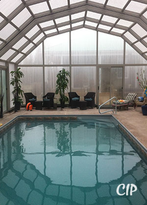 Australia pool enclosure in winter